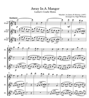 Away in a Manger – Flute Trio