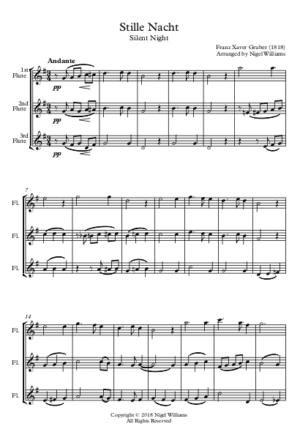 Stille Nacht – Flute Trio