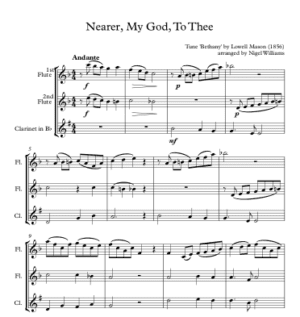 Nearer My God, To Thee – Woodwind Trio