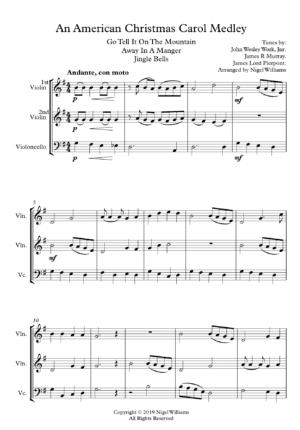 American Christmas Carol Medley – String Trio