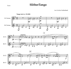 SlitherTango – duet for Eb and Bb Clarinets
