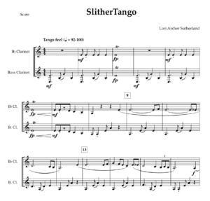 SlitherTango – duet for Bb and Bb Bass Clarinet