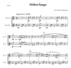 SlitherTango – duet for Alto and Tenor Saxophones