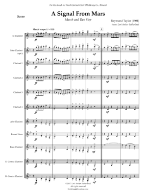 A Signal from Mars: March and Two-Step – Clarinet Choir