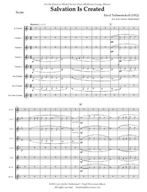 Salvation is Created – for Clarinet Choir