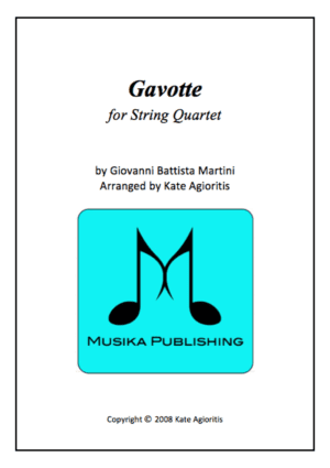 Gavotte by Martini – for String Quartet