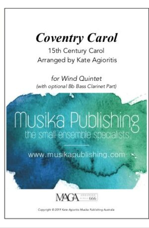 Coventry Carol – for Wind Quintet