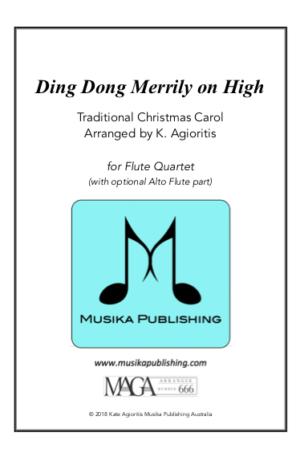 Ding Dong Merrily On High – Flute Quartet