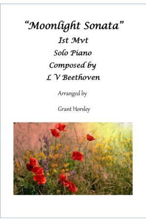 Moonlight Sonata 1st Mvt. Beethoven.Piano Solo (Simplified)