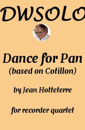 Dance for Pan (based on Cotillon) for recorder quartet