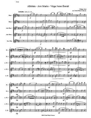 Byrd Alleluia Ave Maria Virga Jesse (2 flutes, 2 altos 1 bass)
