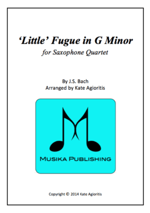 Little Fugue in G Minor – Saxophone Quartet