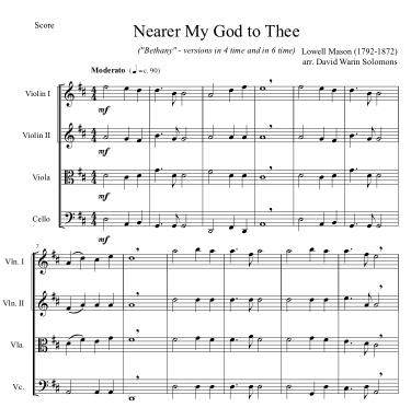 nearer my god string quartet