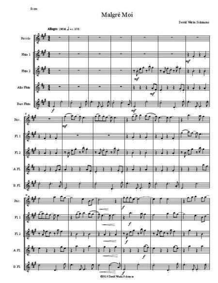 malgre flute quintet w piccolo first page
