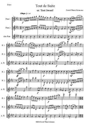 Tout de Suite (Toot Sweet) – Flute Trio
