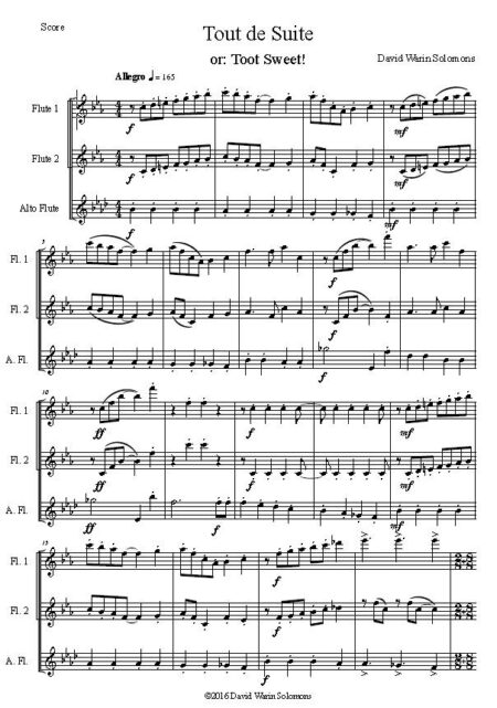 toot flute first page
