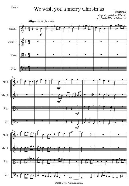 merry string quartet first page