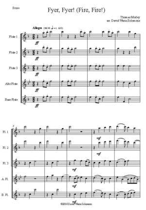Fyer Fyer! – Flute Quintet