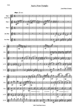 Just a few Details – Flute Quintet
