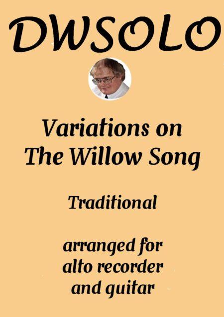 cover willow song alto recorder guitar