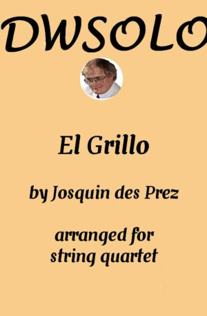 El Grillo (The Cricket) with decorations for string quartet