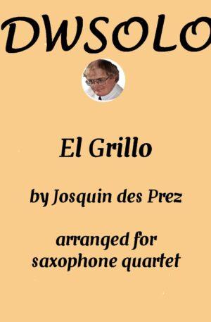 El Grillo (with decorations) for saxophone quartet