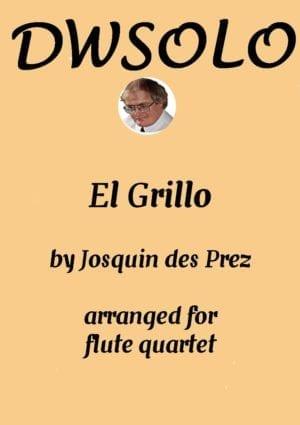 El Grillo (The cricket) – with decorations – for flute quartet