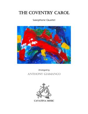 THE COVENTRY CAROL – saxophone quartet
