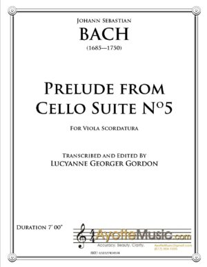 Prelude from Cello Suite No. 5 for Viola Scordatura