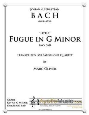 Little Fugue in G Minor for Saxophone Quartet