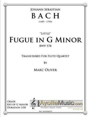 Little Fugue in G Minor for Flute Quartet