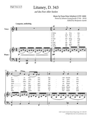 Litanei for High Voice in F major