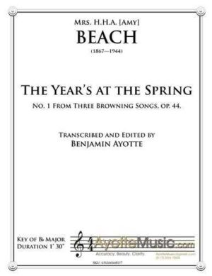 The Year's at the Spring, op. 44, no. 1