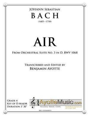 Air from Orchestral Suite No. 3 in D for String Quartet