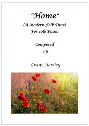 Home- A Modern Folk Tune-Piano solo