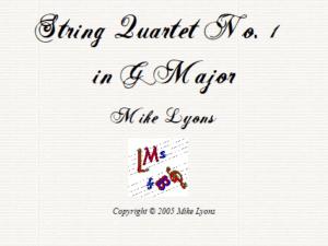 String Quartet No. 1 in G