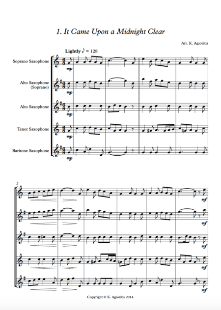 More Carols Sax 1
