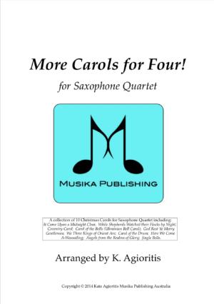 More Carols for Four! – Saxophone Quartet