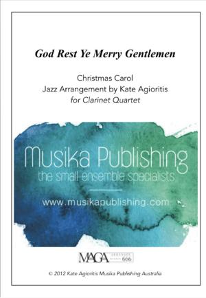 God Rest Ye Merry Gentlemen – Jazz Carol for Clarinet Quartet