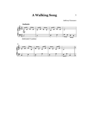 A WALKING SONG – piano (elementary)