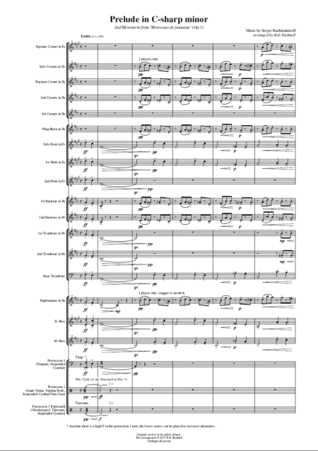 Prelude in C-sharp minor (Rachmaninoff, arr. Rob Bushnell) - Brass Band (Preview 4)