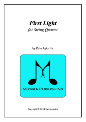First Light – for String Quartet