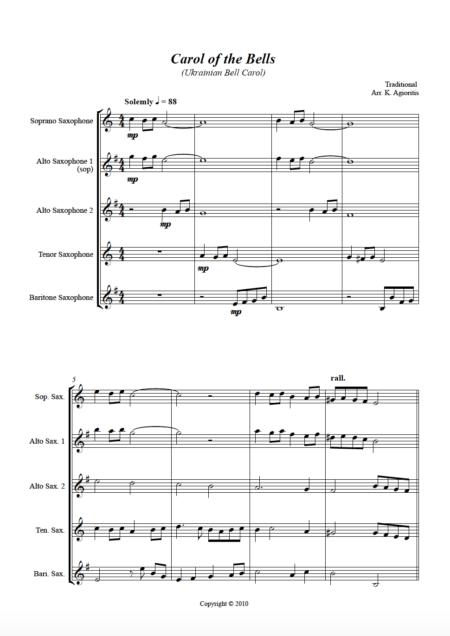 Carol bells sax 4