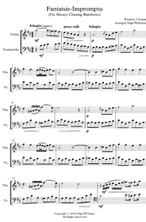 Fantaisie-Impromptu, duet for violin and cello