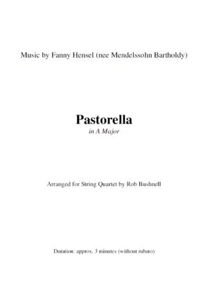 Pastorella in A Major (Fanny Hensel) – String Quartet