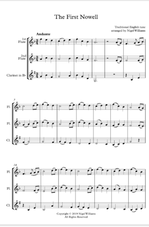 First Nowell – Woodwind Trio