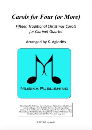 Carols for Four – 15 Carols for Clarinet Quartet