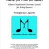 Carols for Four - String Quartet