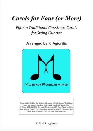 Carols for Four – 15 Carols for String Quartet