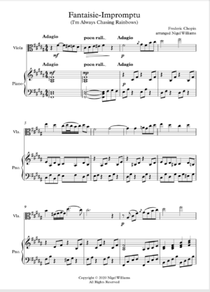 Fantaisie-Impromptu, for viola and piano